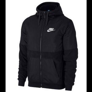 Nike Men's Full Zip Fleece/Nylon Jacket size M